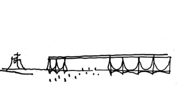 Croqui Palácio da Alvorada - Oscar Niemeyer
